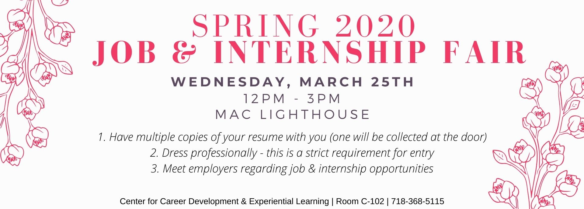 Spring 2020 Job & Internship Fair